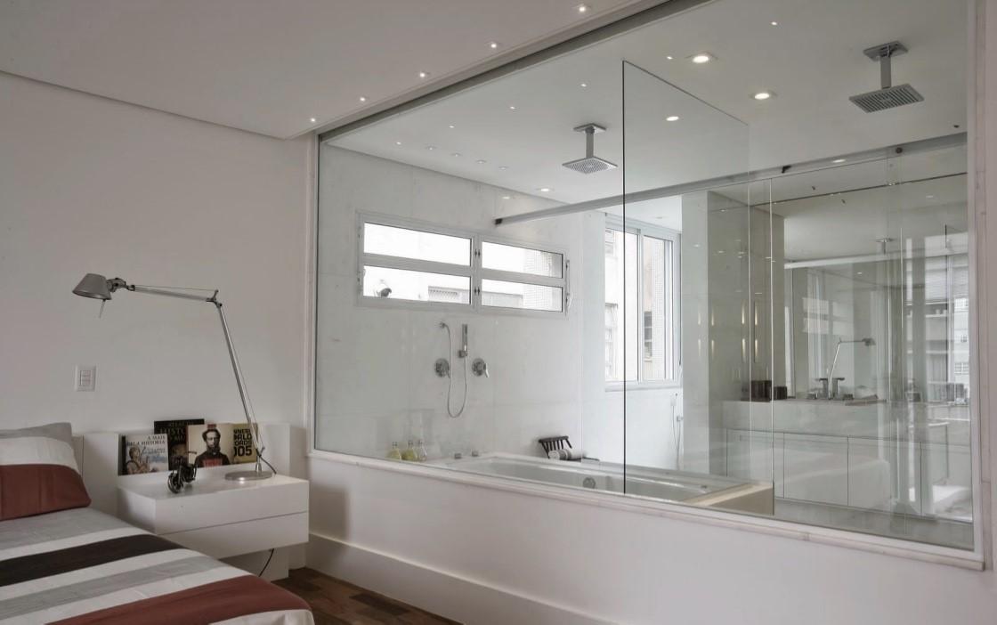 Ambientes com paredes de vidro